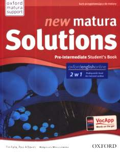 New Matura Solutions Pre-Intermediate Podręcznik + Ebook