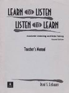 Learn To Listen Listen To Learn Teachers Manual