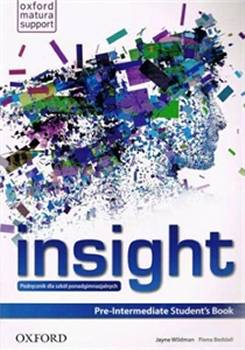 Insight Pre-intermediate Podręcznik + Ćwiczenia Oxford English Online